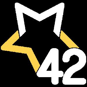 Logo M42 White Gold 512px