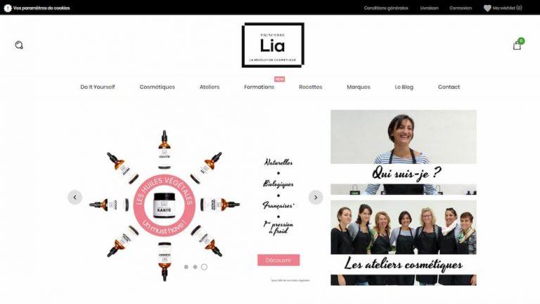M42 - Création du site e-commerce Princesse Lia, homepage
