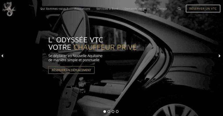 M42 - Visuel refonte du site vitrine L'Odyssée VTC