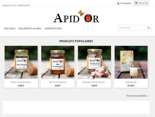 M42 - Création de site e-commerce Apid'Or, produits populaires