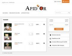 M42 - Création de site e-commerce Apid'Or, page produit