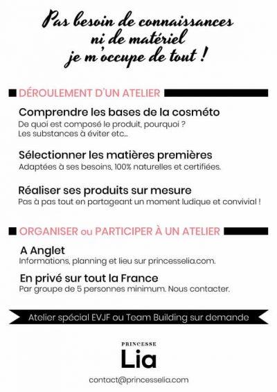 M42 - Flyer Ateliers cosmétiques Princesse Lia, verso