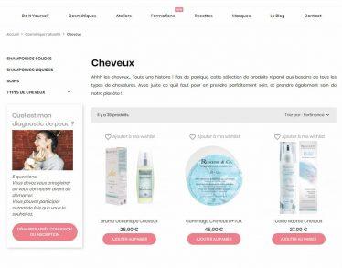 M42 - Création du site e-commerce, catégorie