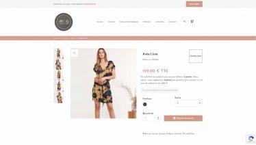 M42 - Création du site e-commerce Loft 45, page produit