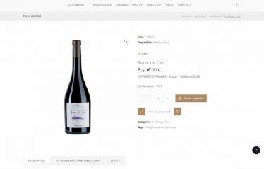 M42 - Création du site e-commerce Purviti, fiche produit